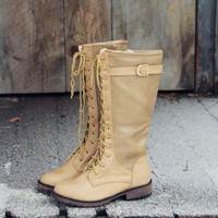 Sleepy Snow Lace-Up Boots