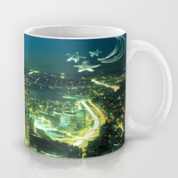 Seattle Emerald Moon and Stars Mug by Christine Aka Stine1