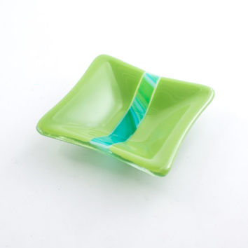 Best trinket dish products on wanelo for Green glass bath accessories