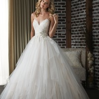 Bonny Classic 308 Lace and Tulle Wedding Dress