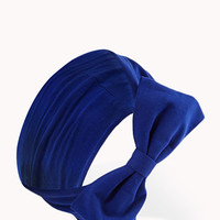FOREVER 21 Classic Bow Headwrap Royal One