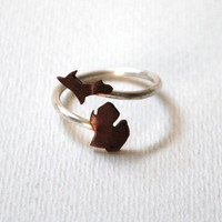 Michigan Upper and Lower Peninsula Twist State Ring (Sterling Silver & Copper Ring)