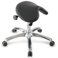 The Posture Improving Saddle Seat - Hammacher Schlemmer