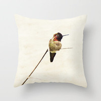 Hummingbird  Throw Pillow by Bree Madden  | Society6