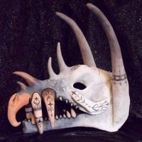 $1300 Dragon Skull by CabochonPersnickity on Etsy