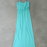 All Along Mint Maxi Dress [5229] - $24.94 : Feminine, Bohemian, & Vintage Inspired Clothing at Affordable Prices, deloom
