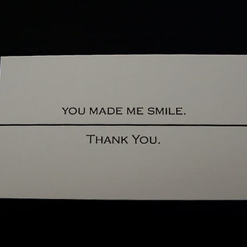 """Set of 20 """"You Made Me Smile . . . Thank You"""" --- business cards"""