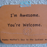 Funny Mother's Day Card EcoFriendly by CraftColorfully on Etsy