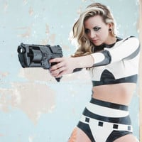 Star Wars Stormtrooper Inspired Rubber Latex Two Piece Set