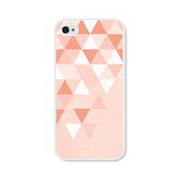 Geometric Phone Case - Ombre Peach Pink Geometric iPhone 4 / 4s - 5 / 5s - 5c Case - Coral iPhone 5c Case - iPhone 5 Case - iPhone 4s Case