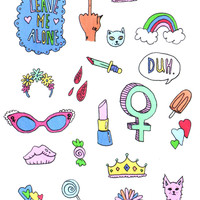 BADASS BABES STICKER SET
