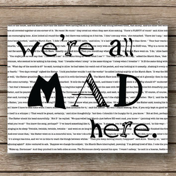 Buy 1 Get 1 Alice in Wonderland We are by JaneAndCompanyDesign