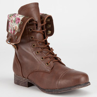 Bamboo Shorbie Girls Boots Cognac  In Sizes