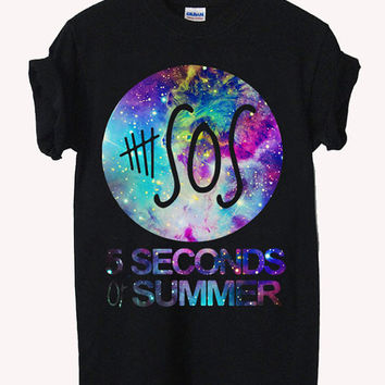 5 seconds of summer logo music Screenprint 100% soft cotton t-shirt For girl and men Unisex
