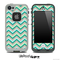 Subtle Greens Chevron Pattern for the iPhone 5 or 4/4s LifeProof Case