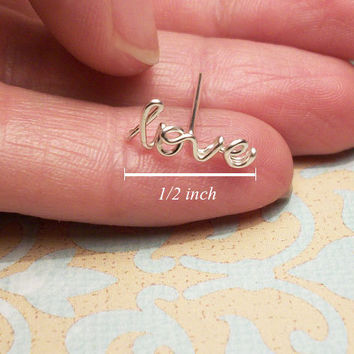 MINI Love Cartilage Earring, Sterling Silver - FREE Toe Ring