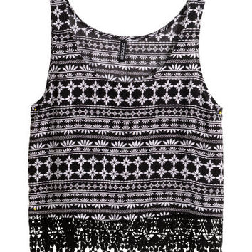H&M Top with Lace Trim $14.95