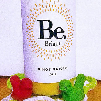 Wine Candle Soy Candle Be Bright Pinot Grigio Lemon Pound Cake Scent