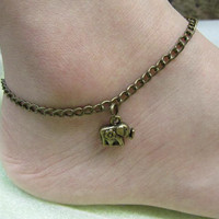 ON SALE--elephant jewelry anklet steampunk antique jewelry Harry Potter anklet-Friendship Gift--Personalized anklet Fashion Jewelry Gift