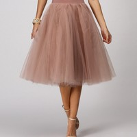 Natural Tulle Darling Party Skirt