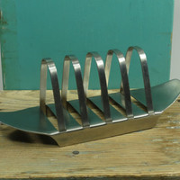 Old Hall Campden Toast Rack Designed by Robert Welch Stainless Steel Mid Century Modern Circa 1960
