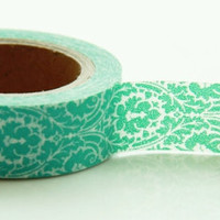 Aqua Demask Washi Masking Tape Roll Adhesive Stickers WT46