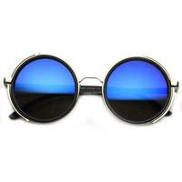 Vintage Inspired Steampunk Studio Cover Revo Lens Sunglasses 9583
