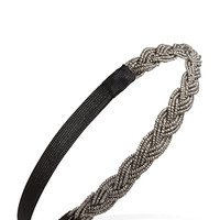 FOREVER 21 Braided Bead Headband Pewter One