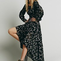 Free People Womens Fireside Tale Dress - Black