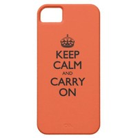 Tangerine Tango Keep Calm And Caryy On iPhone 5 Covers
