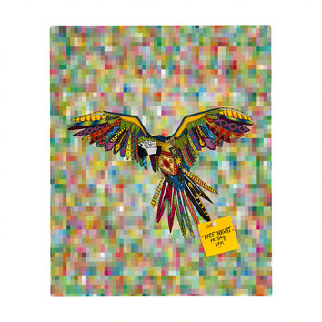 Sharon Turner Harlequin Parrot Rectangular Magnet Board