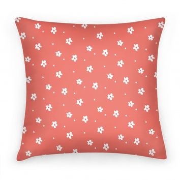 Coral Dainty Floral Pattern