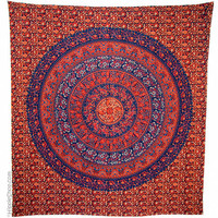 Indian Flower Circle Tapestry on Sale for $25.95 at HippieShop.com