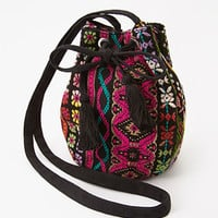 Embroidered Tribal Pattern Crossbody