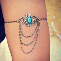 boho armlet, upper arm chain, body chain, unique jewelry