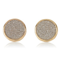 River Island Womens Gold tone glitter stud earrings