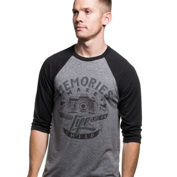 Memories Make A Life Men's Baseball Tee