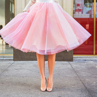 Pretty in Light Pink Beautiful Skirt Top Quality Tulle