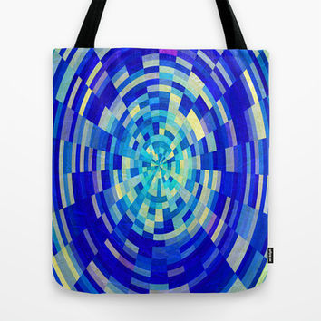 BLUE WORLD Tote Bag by catspaws