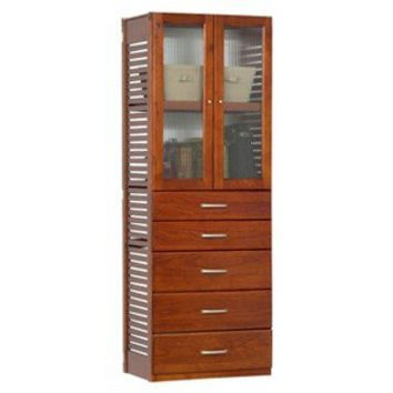 Standalone Deluxe Storage Tower - Red Mahogany
