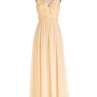ModCloth Long Spaghetti Straps Maxi All Roads Lead to Romance Dress