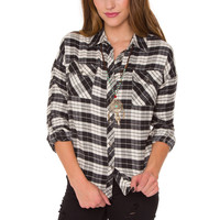 Ivy Lyn Plaid Top - White
