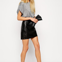 Dani Faux Leather Mini Skirt