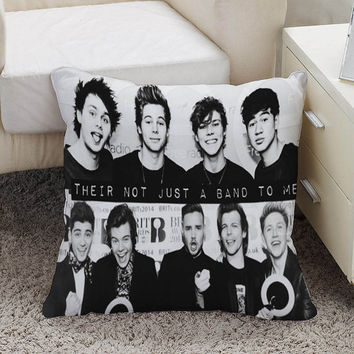 5 seconds of summer and one direction their not just a band to me Square Pillow Case Custom Zippered Pillow Case one side and two side