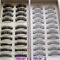 20 Pairs Regular Long and Thick Eyelashes Style 1 and 2