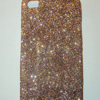 Gold Purple Glitter iPhone 4 4s Hard Cover Case by kaylafenton