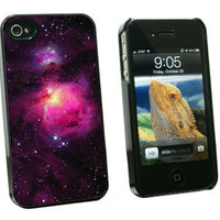Orion Nebula Space - Snap On Hard Protective Case for Apple iPhone 4 4S - Black