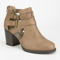 Soda Scribe Womens Booties Taupe  In Sizes