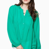 ShopSosie Style : Harper Blouse in Green