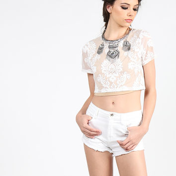 Victorian Lace Boxy Top